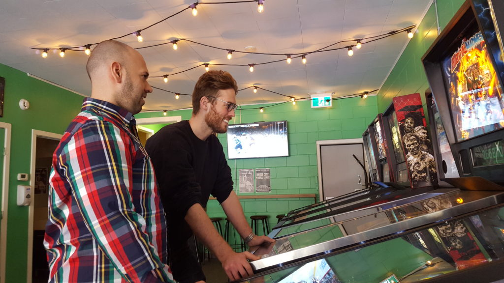 Do Sask goes to Pokey's Pinball